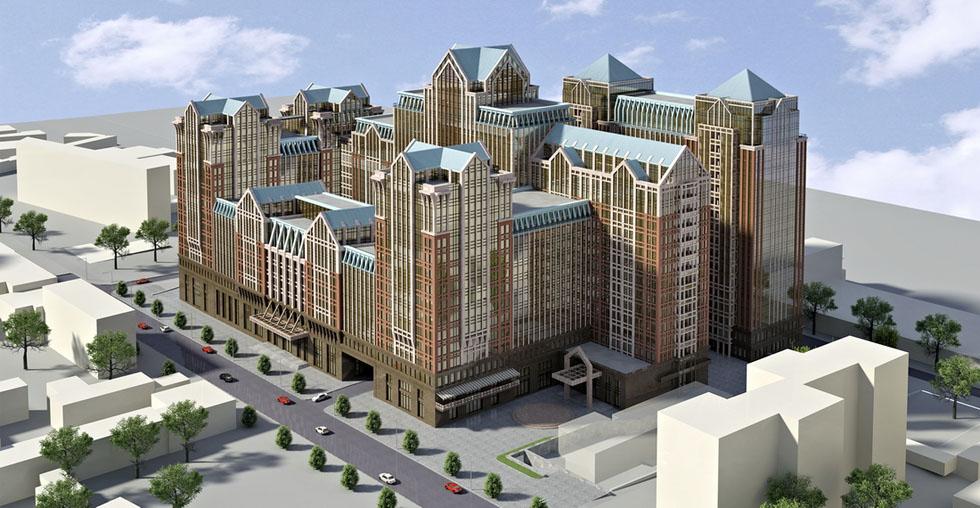 Офисно-гостиничный комплекс по ул. Жилянская, 47