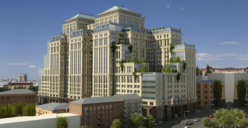 Office and hotel complex on Vladimirskaya-Tarasivska St. 74d/9a